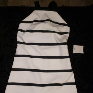 NWT Zara BW Romper with Skirted Front